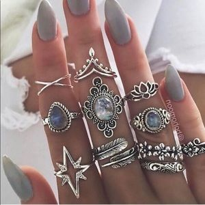 Women's Boho 11Pcs/Set Joint Knuckle Rings